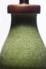 Lawrence & Scott Scarlett Porcelain Table Lamp in Celadon Crackle (Walnut)