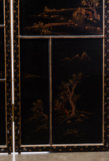 Lawrence & Scott Japanese Large Four-Panel Kano Style Landscapes Screen Room Divider