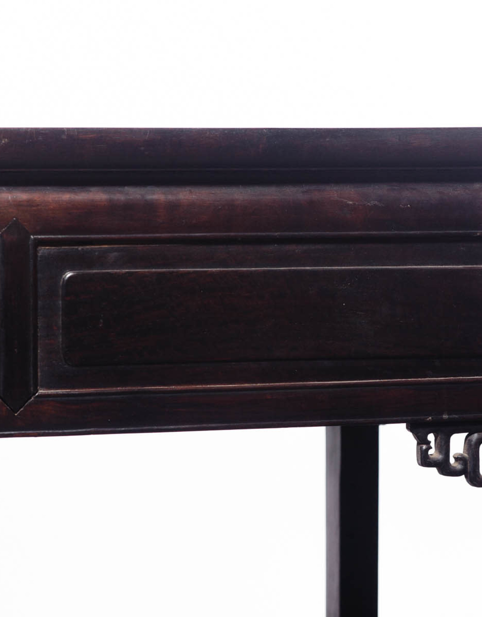 Antique - Lawrence Collection Antique 19th Century Chinese Blackwood Console Table With Two Drawers