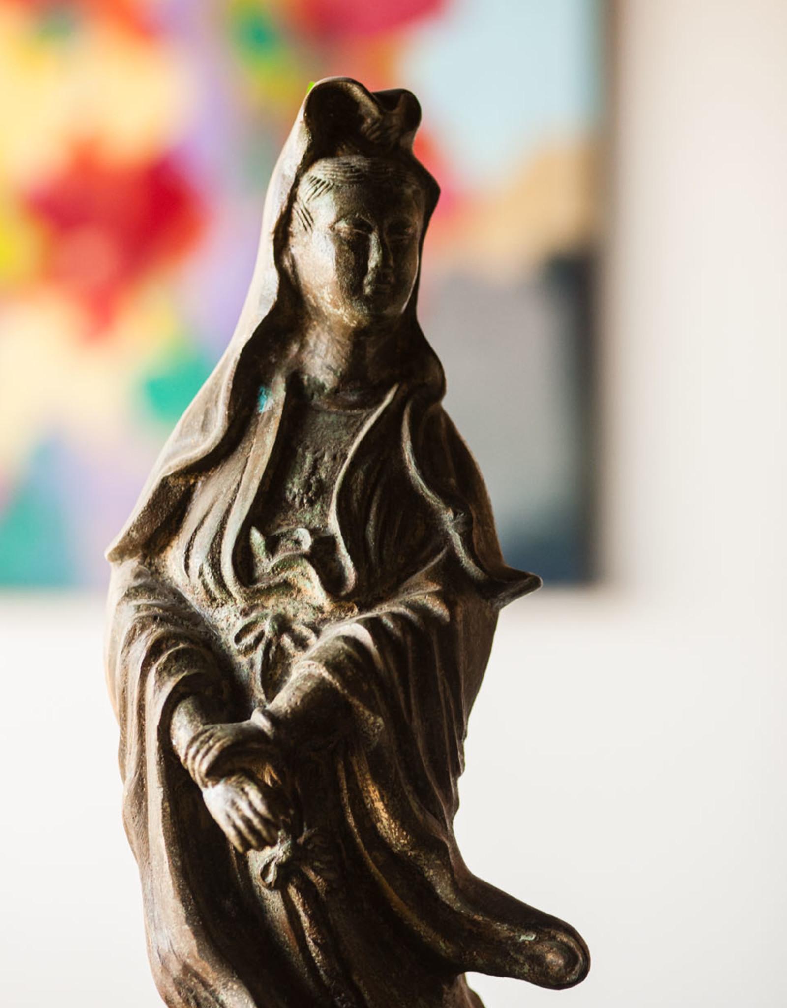 Lawrence & Scott Verdigris Bronze Guan Yin