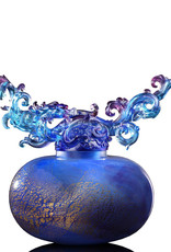 "LIULI Crystal Art Crystal Feng Shui Metal Element Dragon Treasure Vase ""Ethereal Chime Baoping"""