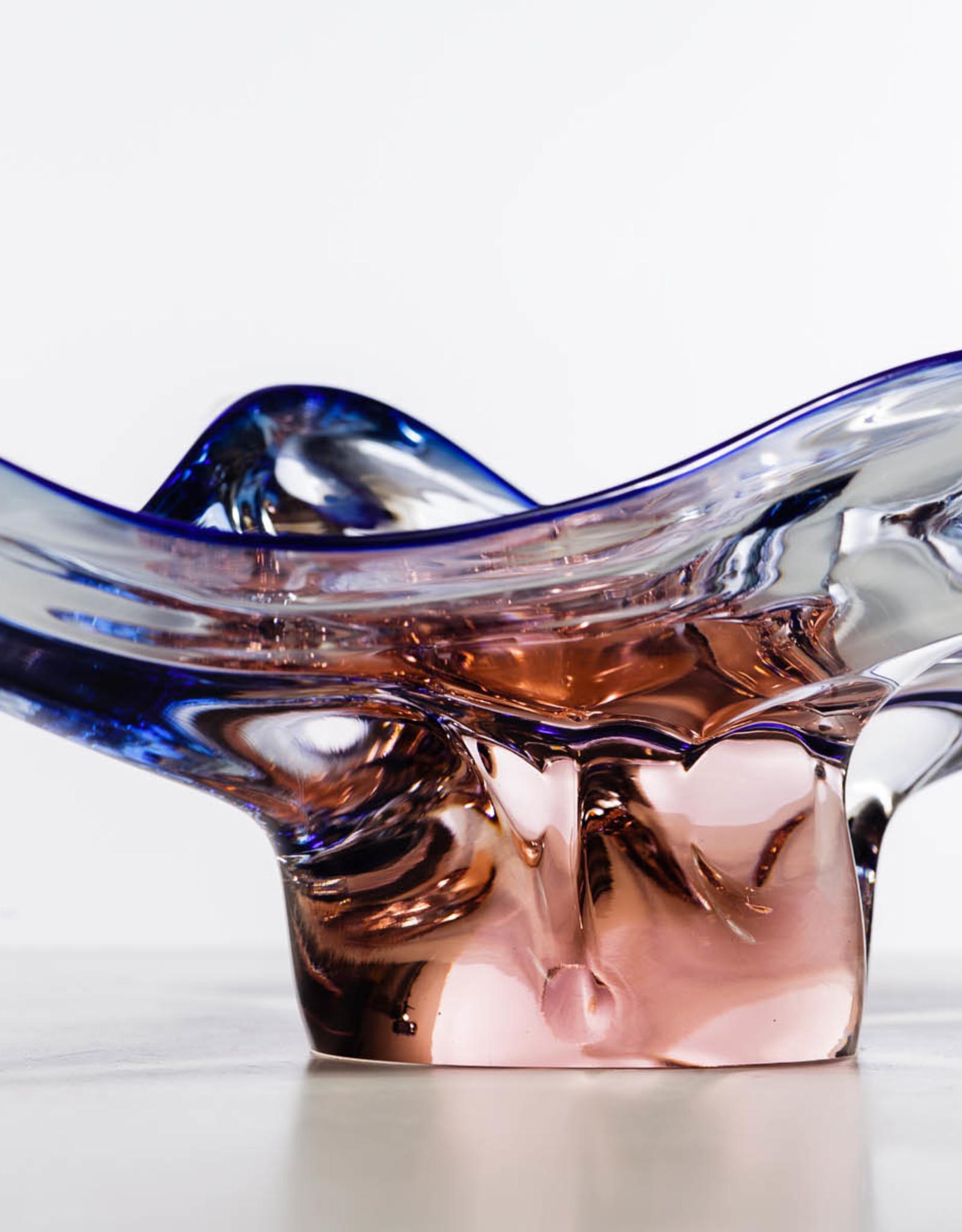 Archimede Seguso Murano Sommerso Centerpiece Bowl