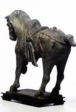 Lawrence & Scott Large Verdigris Bronze Prancing Horse