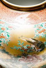 Antique - Lawrence Collection Vintage Large Japanese Kutani Kinsuizo Kiln Flower & Birds Vase