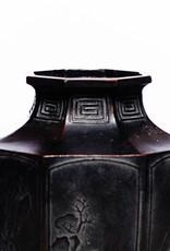 Antique - Lawrence Collection Antique Japanese Octagonal Zinc Vase ca. 1900