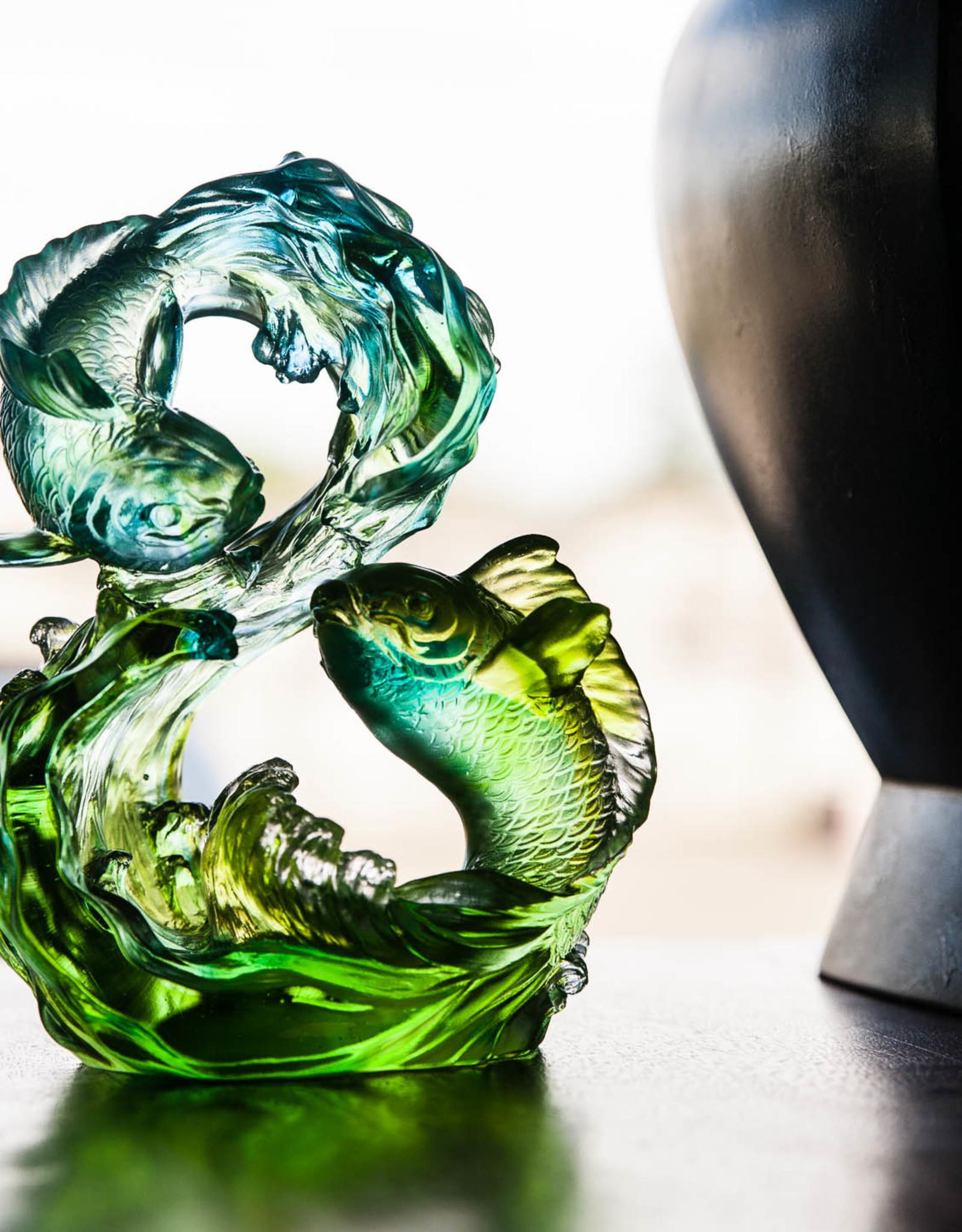 LIULI Crystal Art Crystal Koi Infinity (Limited Edition)