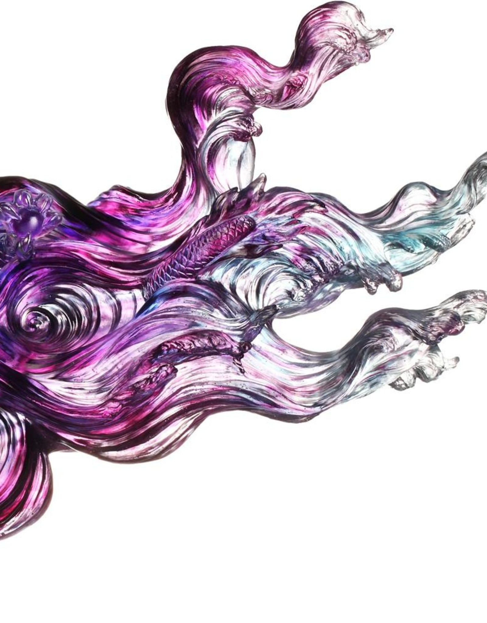 "LIULI Crystal Art Crystal Dragon ""Celestial Dragon (Encouragement) - Dragon of Evolution"""