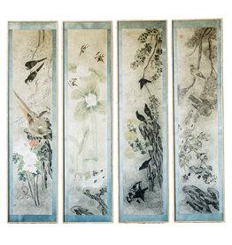 Lawrence & Scott 'Four Seasons'' with blue border Panel Set