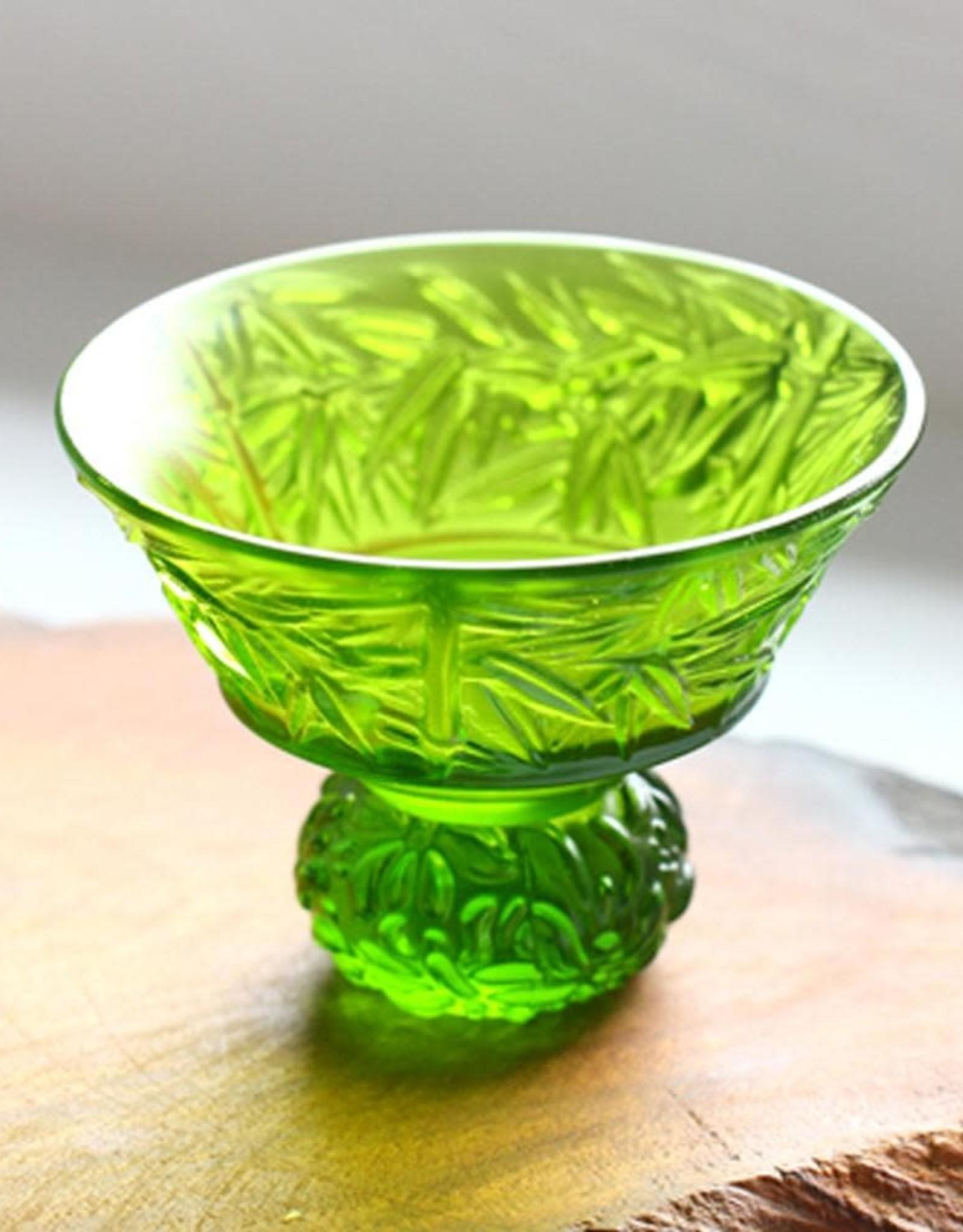 LIULI Crystal Art A Drink To Virtue (Set of 4), Sake Glass, Shot Glass (4 Designs, Same Color)