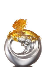 """LIULI Crystal Art Crystal Qilin, the mythical creature - """"Beauty"""" in Light Amber"""