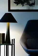 Lawrence & Scott Somand Torchiere Verdigris Bronze Table Lamp
