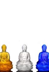 LIULI Crystal Art Crystal Buddhas of the Three Treasures (Set of 3), Mixed Colors