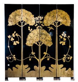 Lawrence & Scott Japanese Large Four-Panel High-Gloss Cherry Blossom Screen/Room Divider