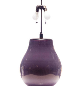 Lawrence & Scott Legacy Lillian Porcelain Table Lamp in Plum with Rosewood Cap (Showroom)