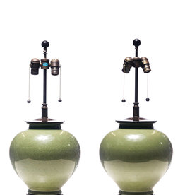 Lawrence & Scott Legacy Luca Table Lamp in Celadon Crackle