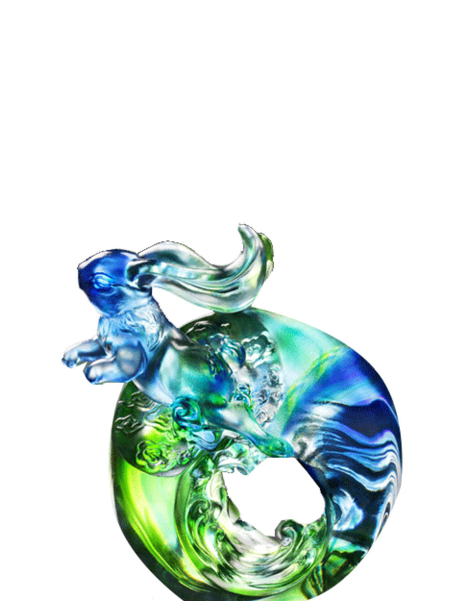 """LIULI Crystal Art Crystal Rabbit """"Flying High"""" in Red Violet (Limited Edition)"""