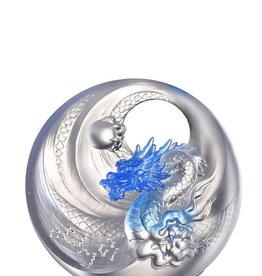 LIULI Crystal Art Mythical Creature-Azure Dragon, Brilliant Sun - Rise