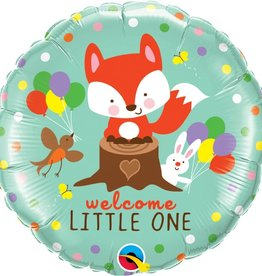 """Qualatex 18"""" WELCOME LITTLE ONE FOX AND FRIENDS"""