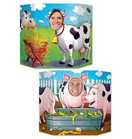 BARNYARD FRIENDS 2 SIDED PHOTO PROP