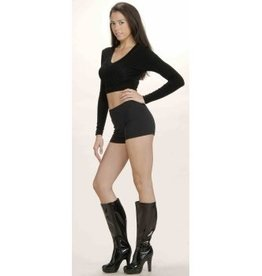 Forum Novelties Hot Little Shorts - Black - Small