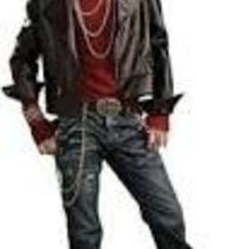 Rubies Costumes HELL RIDER JACKET O/S