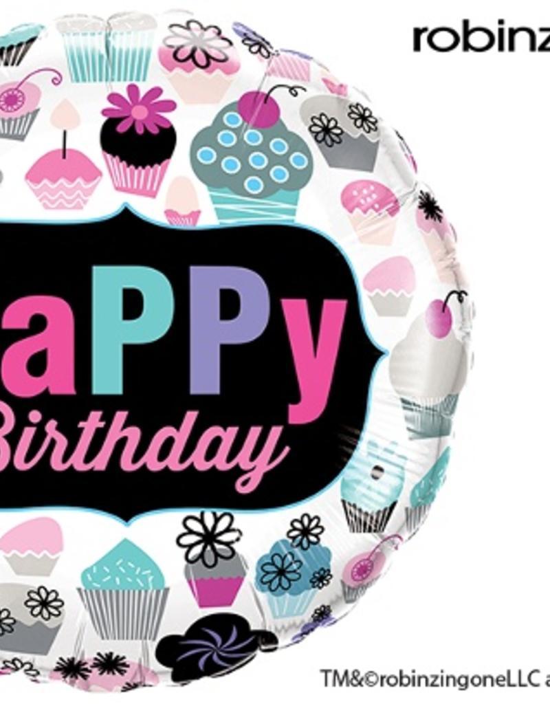 "Qualatex 18"" Birthday Cupcakes Emblem"