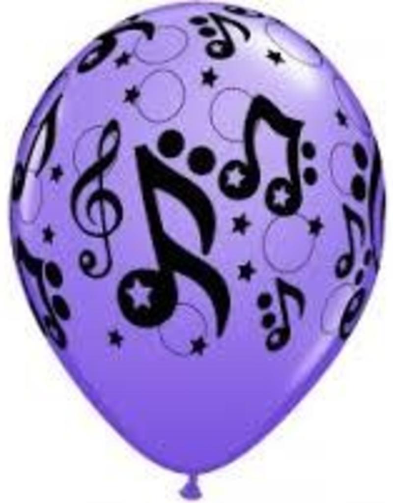 "Qualatex 11"" Musical Stars RND CONTEMPORY AST 50CT"