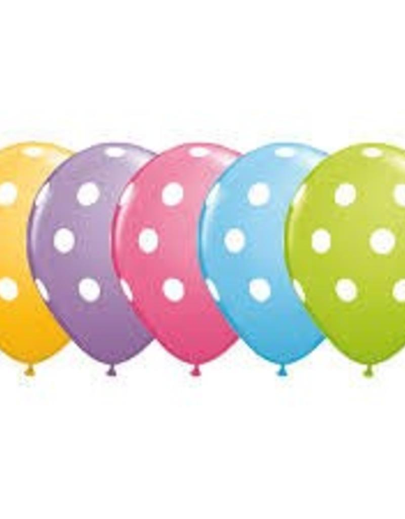"""Qualatex 11"""" Big Polka Dots Pastel Ast. 50CT"""