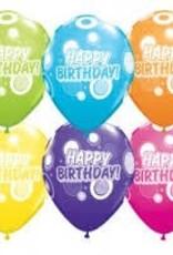 "Qualatex 11"" Birthday Dots & Glitz 50CT"
