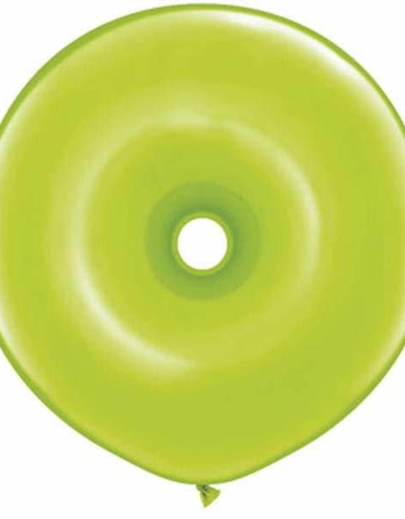 "Qualatex 16"" DONUT LIME GREEN 25CT"