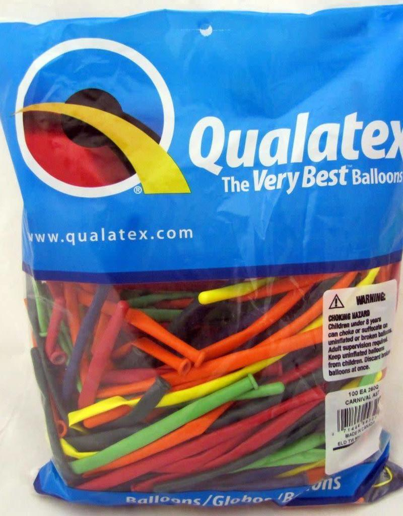 Qualatex 160Q CARNIVAL AST 100CT