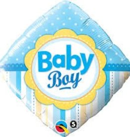 "Qualatex 18"" Baby Boy Dots & Stripes"