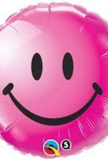 "Qualatex 18"" Smiley Face Wild Berry"