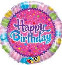 "Qualatex 18"" BIRTHDAY SPRINKLES & SPARKLES"