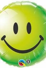 "Qualatex 18"" SMILEY FACE GREEN"