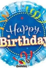"Qualatex 18"" BIRTHDAY BRIGHT BLUE"