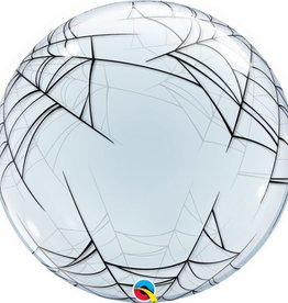 "Qualatex 24"" DECO BUBBLE - SPIDERS WEB"