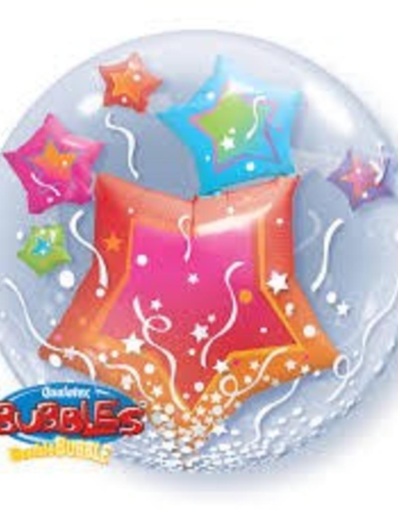 "Qualatex 24"" Double Bubble - Stars"