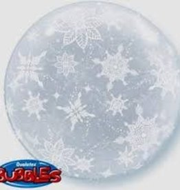 "Qualatex 20"" DECO BUBBLE SNOWFLAKES ALL AROUND"
