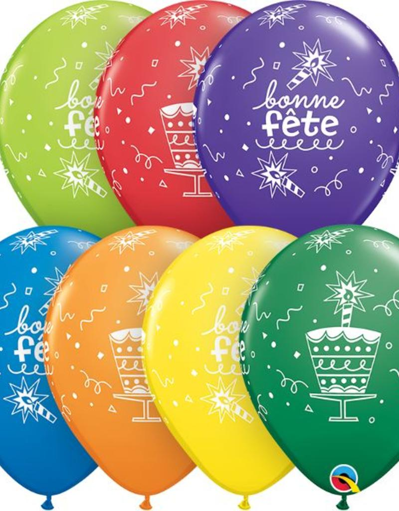 "Qualatex 11"" Carnival Assorted 50 Count Bonne Fete"