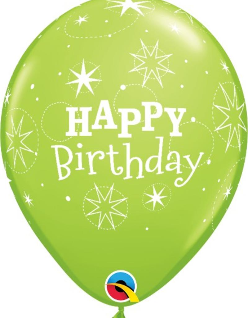 "Qualatex 11"" Round Happy Birthday Lime 50 ct"