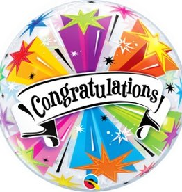 "Qualatex 22"" Round Congratulations Banner Blast"