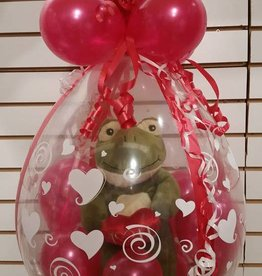 "18"" Gift stuffed balloon. Includes plush toy of available choice"