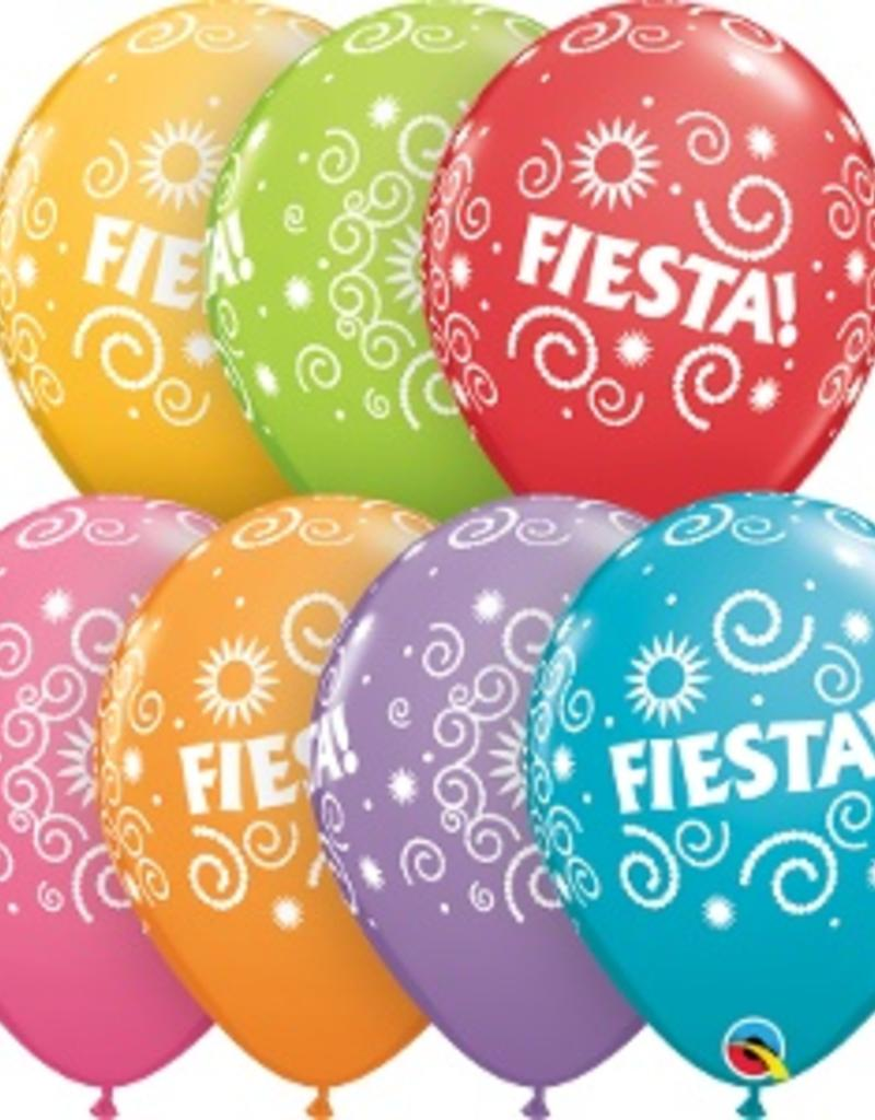 "Qualatex 11"" Fiesta Swirls 50 count"