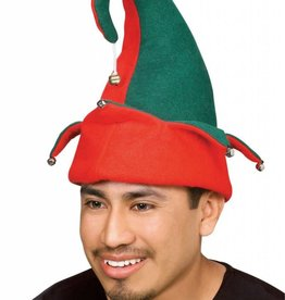 FELT ELF HAT WITH BELLS (RUBIES)