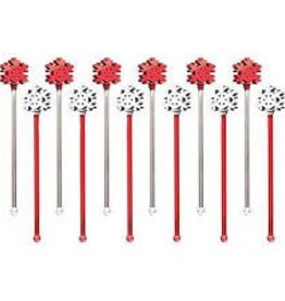 12 SNOWFLAKE COCKTAIL STIRRERS