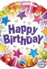 "Qualatex 18"" Birthday Radiant Stars"