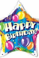 "Qualatex 20"" Birthday ! Sparkling Balloons Star"