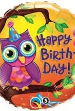 """Qualatex 18"""" Birthday Owl"""