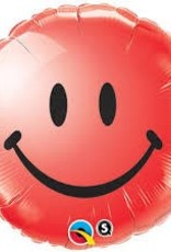 "Qualatex 18"" Smiley Face Red"